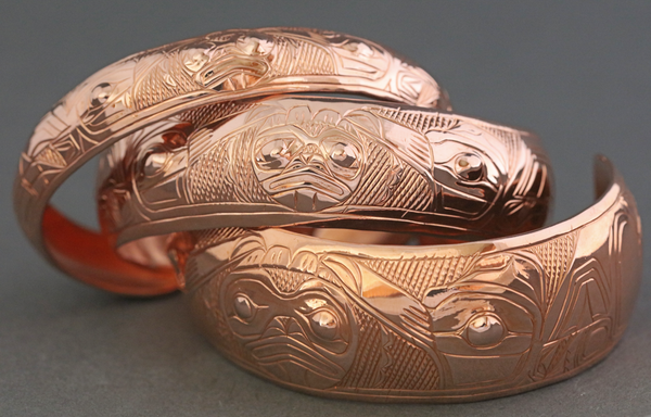 Raven Steals the Sun Copper Bracelet by Chilton