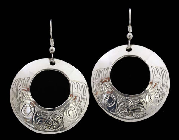 Round Earrings - Eagle