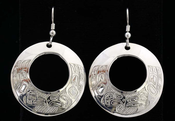 Round Earrings - Lovebirds