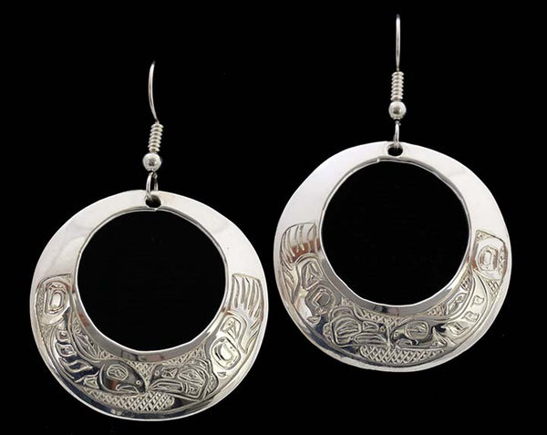 Round Earrings - Raven & Salmon