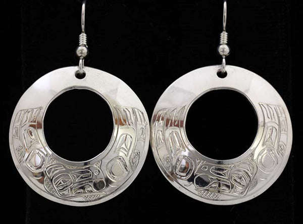 Round Earrings - Raven Sun