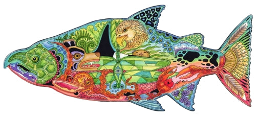 Chinook Salmon Puzzle by Sue Coccia