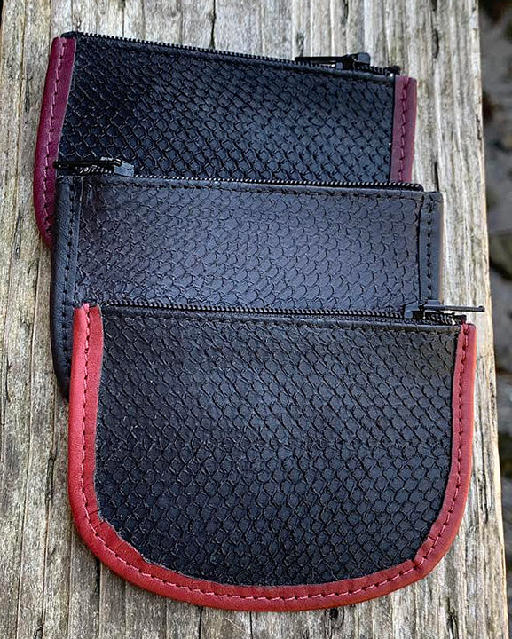 Salmon Leather Coin Purse