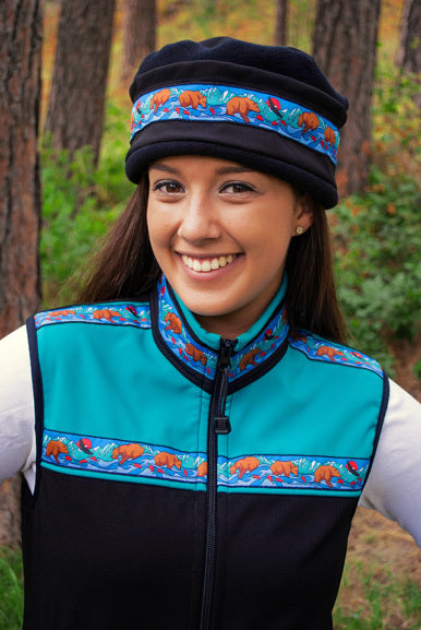 Women's Kodiak Vest Black & Copper Green - Katmai