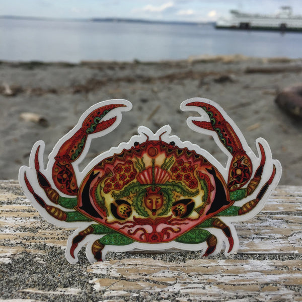Crab Sticker by Sue Coccia