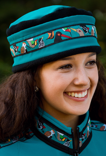 Aurora Teal, Black Alaska Chatter Hat