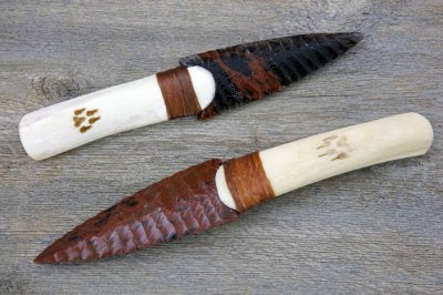 Buffalo Bone Obsidian Knife