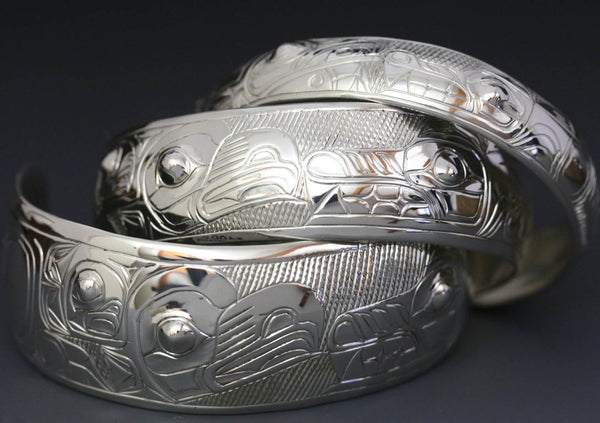 Eagle & Wolf Silver Bracelet by Chilton