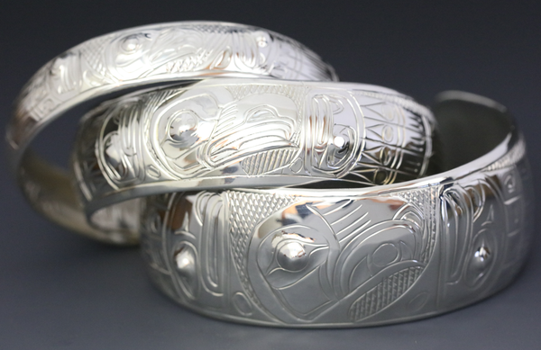 Eagle Spreadwing Silver Bracelet by Chilton