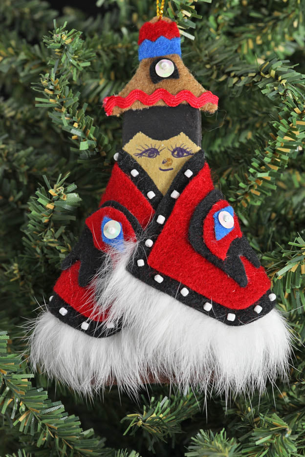 Alaska Tlingit Ornament with Fur
