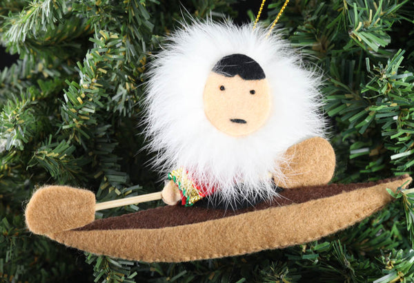 Eskimo Kayak Ornament