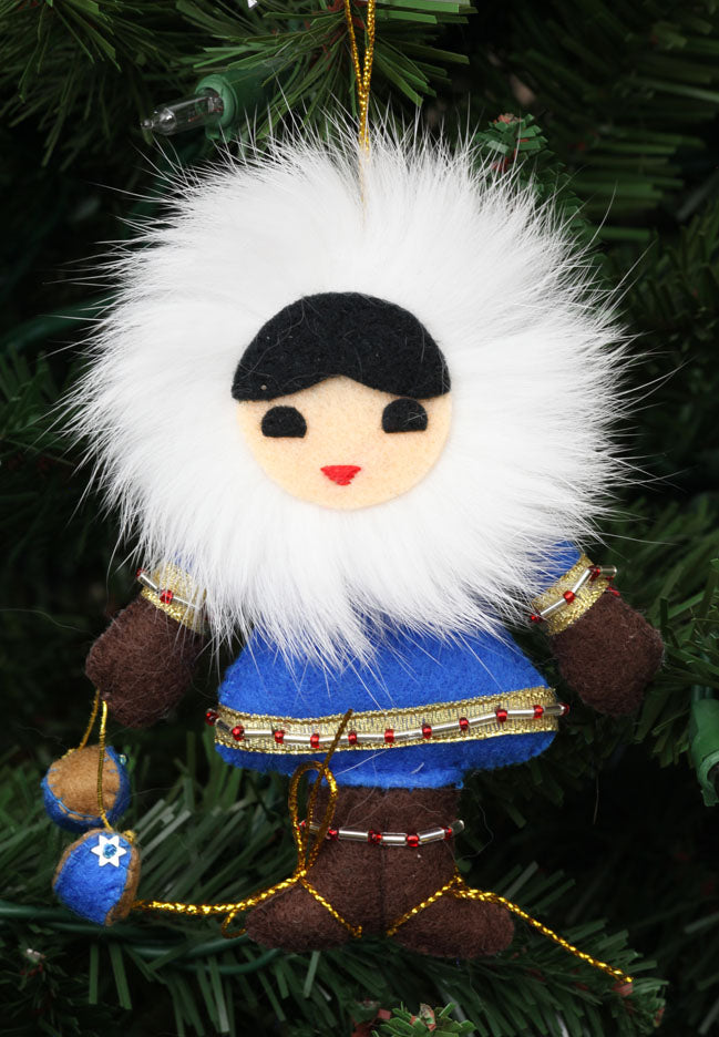Eskimo Child with Yo-Yo Ornament