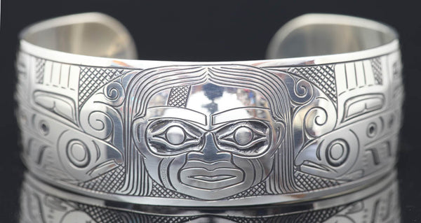 "Fog Woman 1"" Sterling Silver Bracelet by Greg Horner"