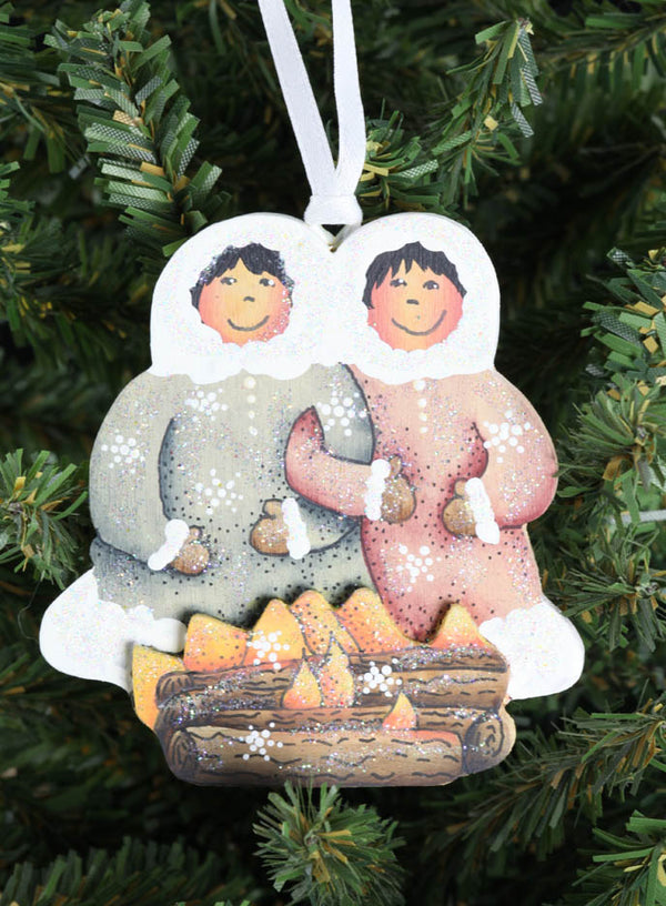 Friends by the Fire Ornament