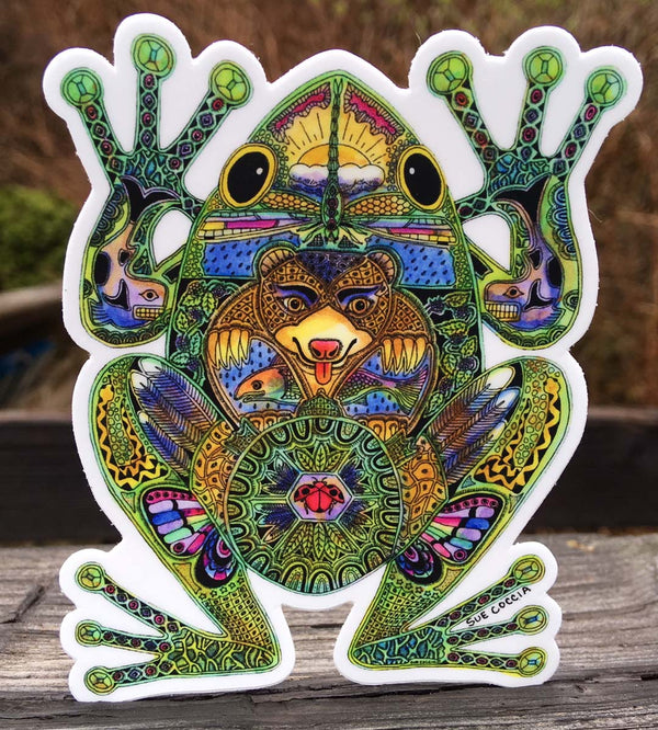 Frog Sticker by Sue Coccia