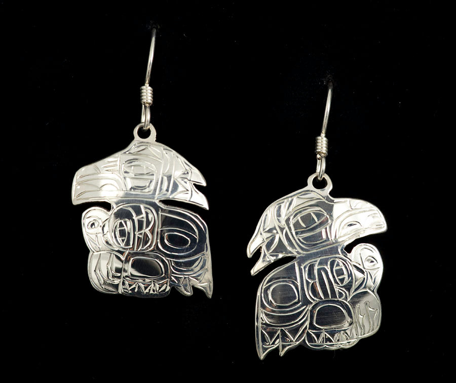 Raven Traditional Earrings by Gene Chilton