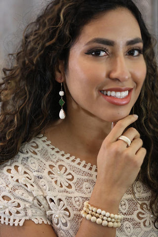 Woolly Mammoth Essentials Earring with Jade