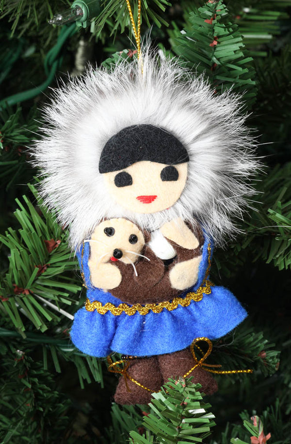 Eskimo Girl with Sea Otter Ornament