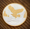 Eagle in Flight Medallion with 24k Gold Relief