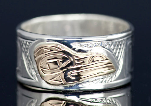 Spreadwing Raven Gold Overlay Ring