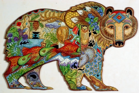 Grizzly Bear Puzzle by Sue Coccia