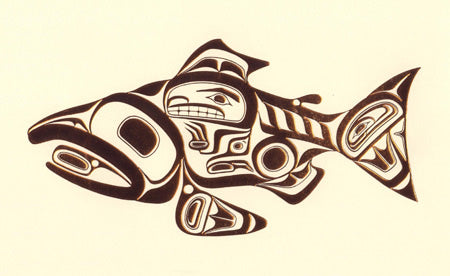 Haida Salmon (Copper) by Bill Reid