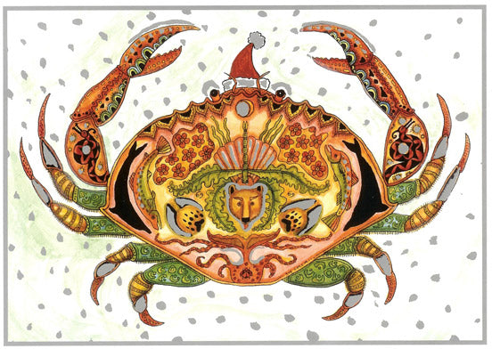 Crab Holiday Card by Sue Coccia