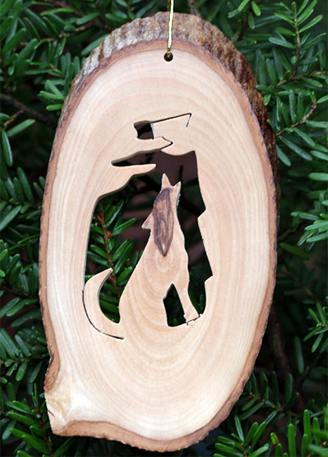 Olive Wood Ornament-Wolf