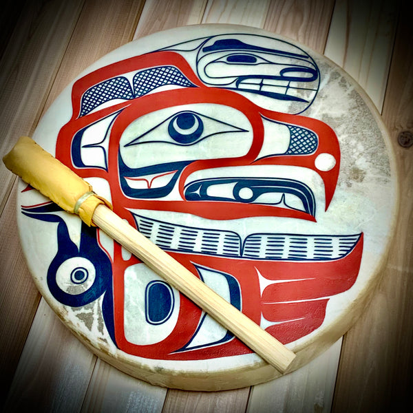 "Eagle 14"" Drum by David Boxley"