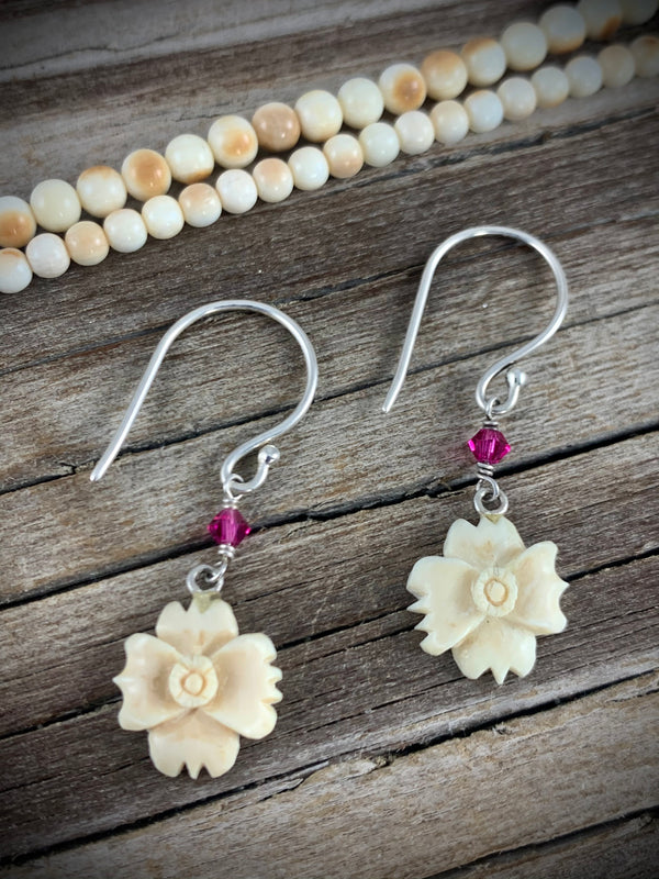 Sitka Rose Drop Earrings