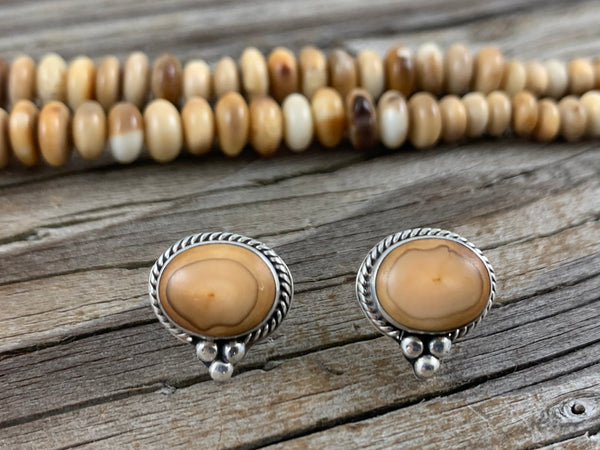 Walrus Ivory Post Earrings