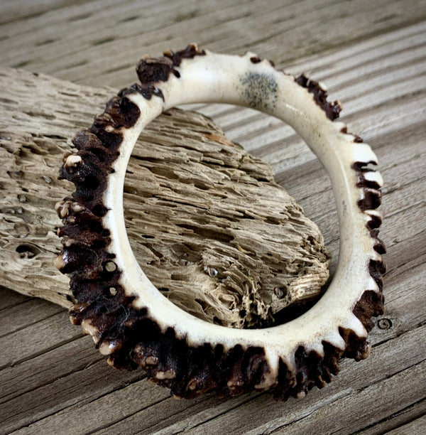 Caribou Antler Bangle Bracelet
