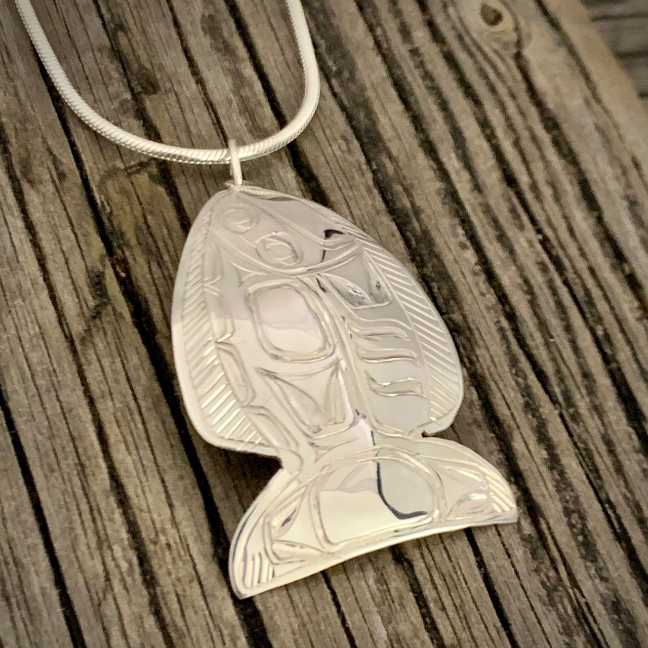 Halibut Pendant by Gene Chilton