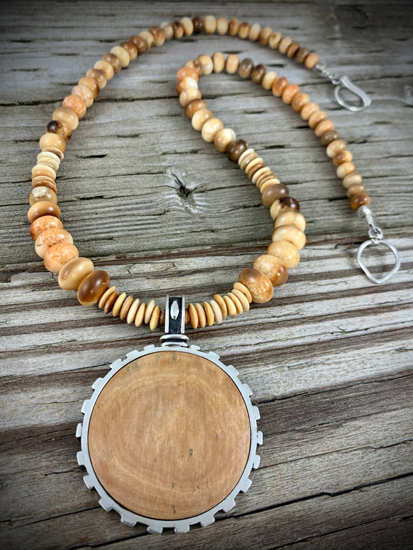 Mammoth and Walrus Ivory Necklace - 20""