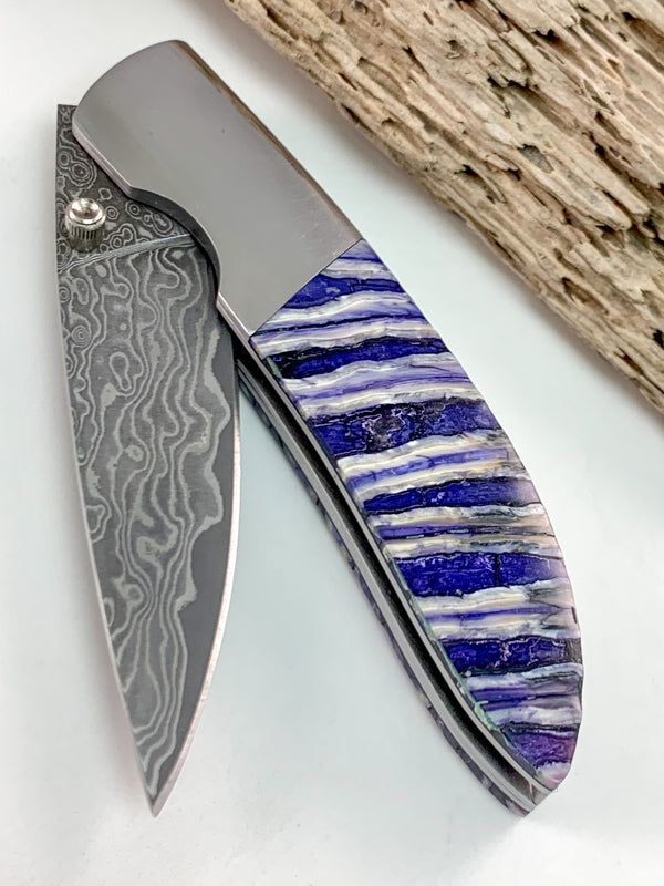 Mammoth Tooth Damascus Knife