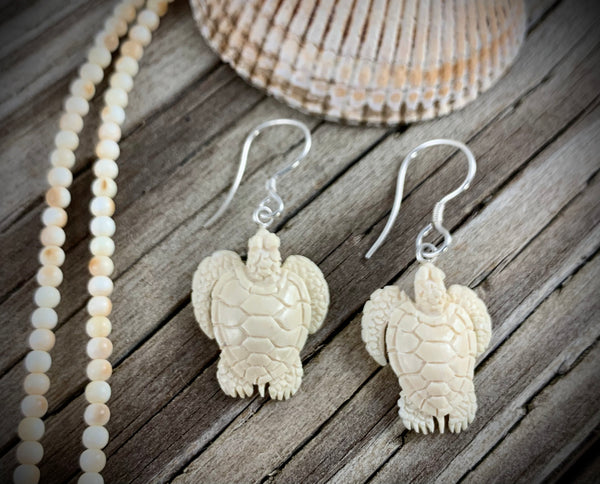 Turtle Earrings - Mammoth Ivory