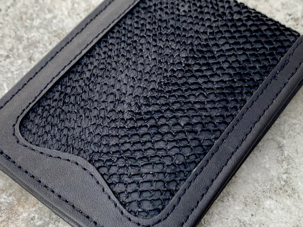 Alaskan Salmon Leather billfold - Black