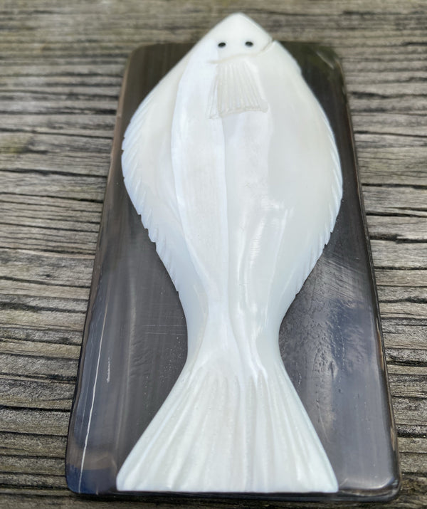 Walrus Ivory Carving- Halibut