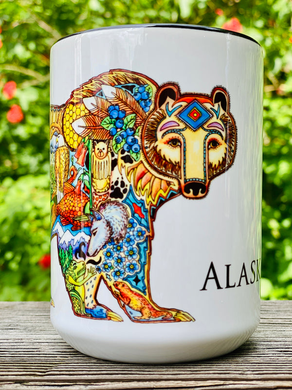 Alaska Grizzly Bear Mug By Sue Coccia