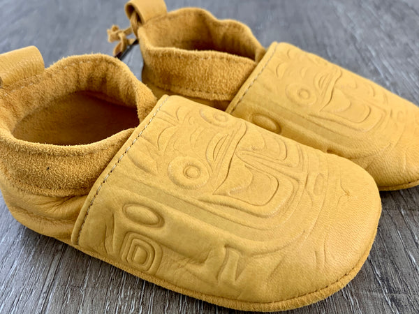 Baby Deerskin Leather Moccasin Bear Box