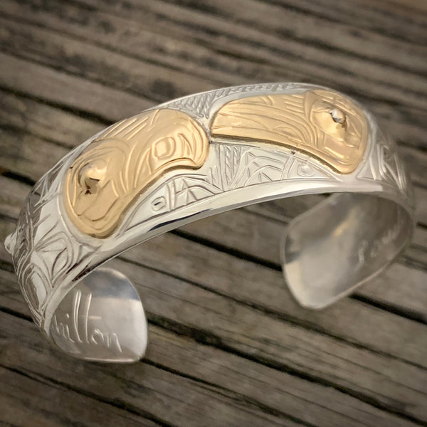 "Lovebirds 6"" Gold Overlay Bracelet by Chilton"