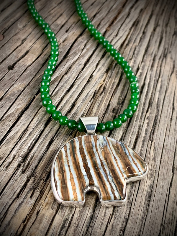 Woolly Mammoth Tooth Bear Pendant