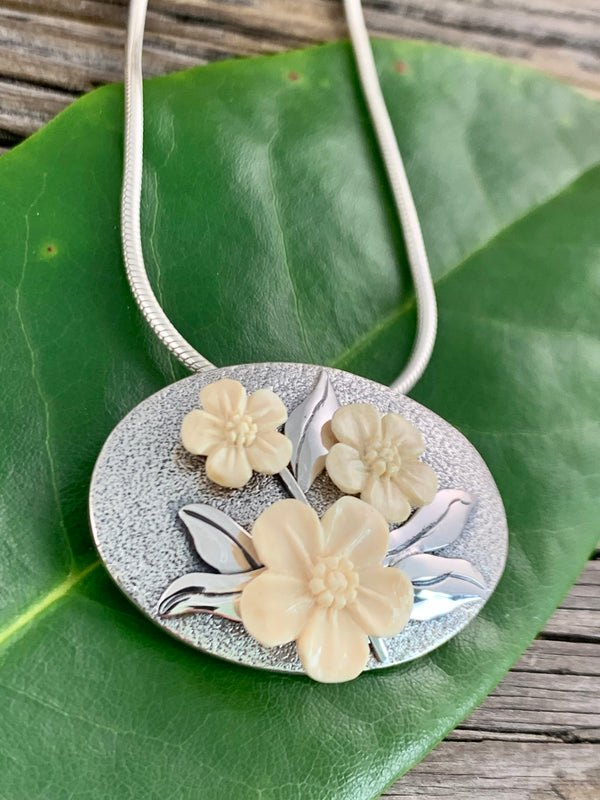 Forget Me Not Pendant/Brooch