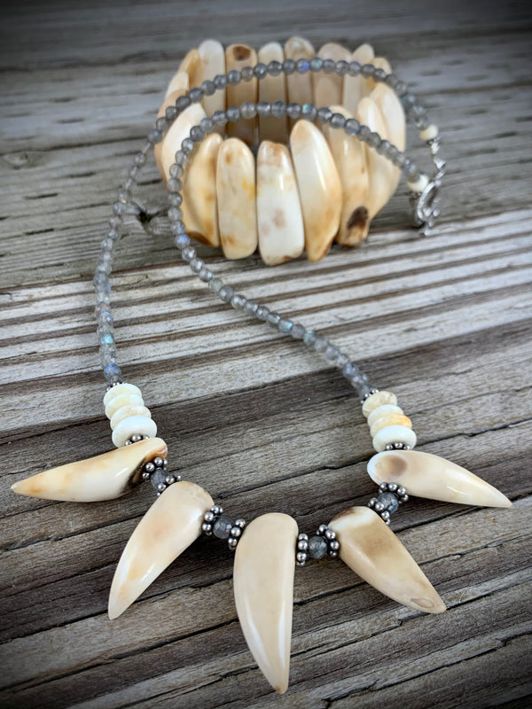 Walrus Ivory Tooth Necklace - 19""