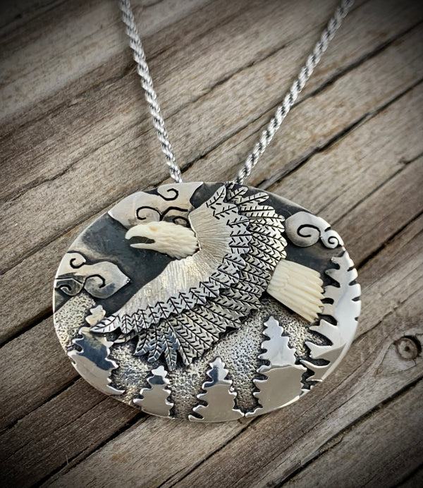 Flying Eagle Pin - Pendant