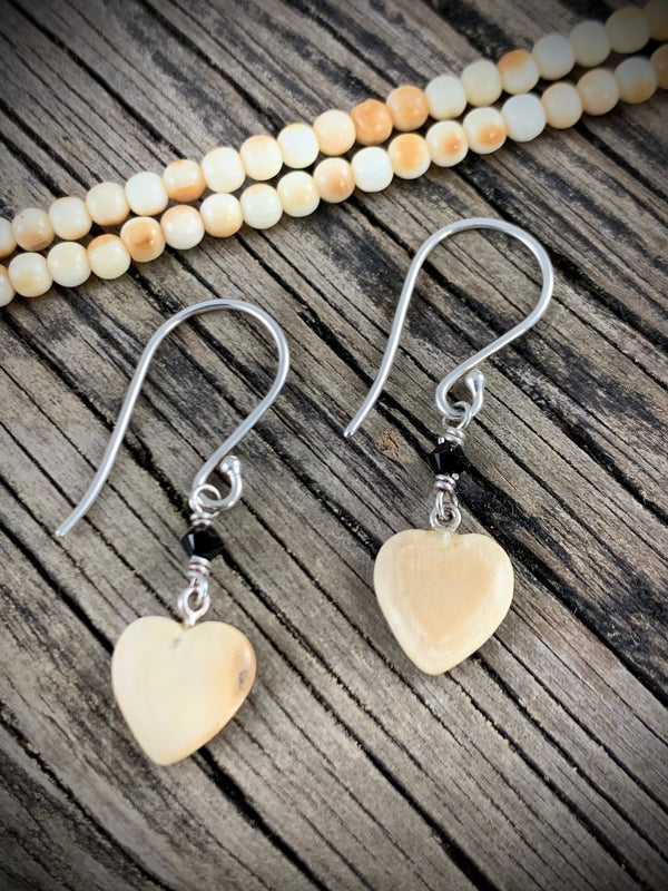 Mammoth Ivory Heart Earrings