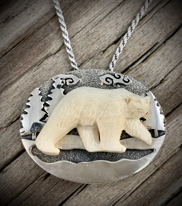 Bear Walking Pin - Pendant