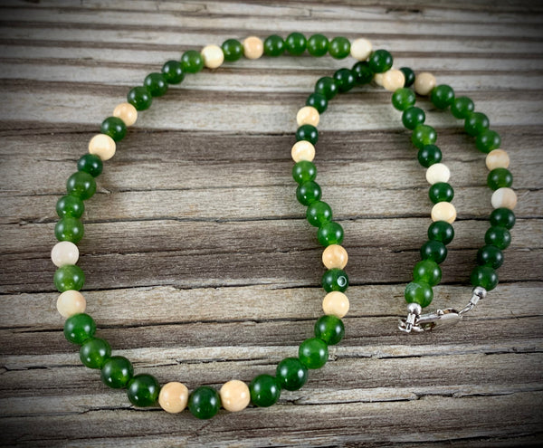 Mammoth Ivory w/ Jade Necklace