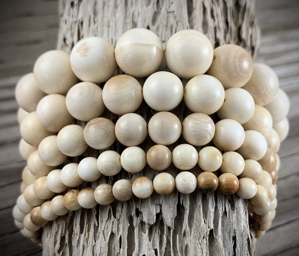 Mammoth Ivory Bead Bracelet 5-12mm