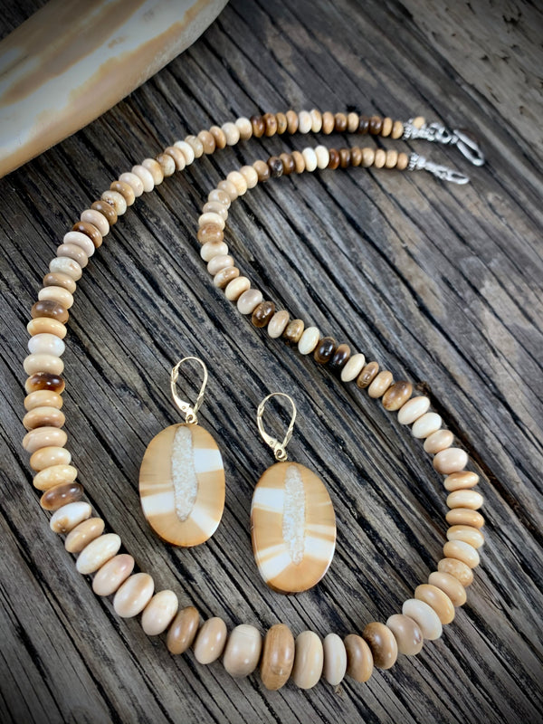 Walrus Ivory Bead Necklace - 20""